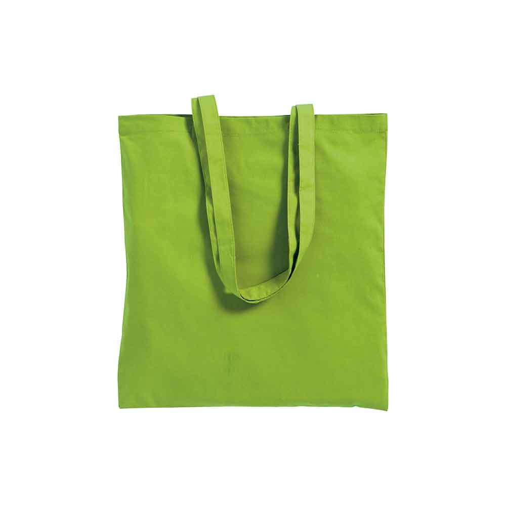 Cotton shopping bag (220 g/m²) with long handles and gusset. - Apple green sip-0712544