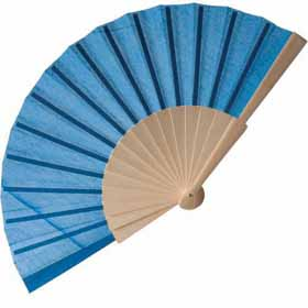 Wooden hand fan - sky blue sip-0842815