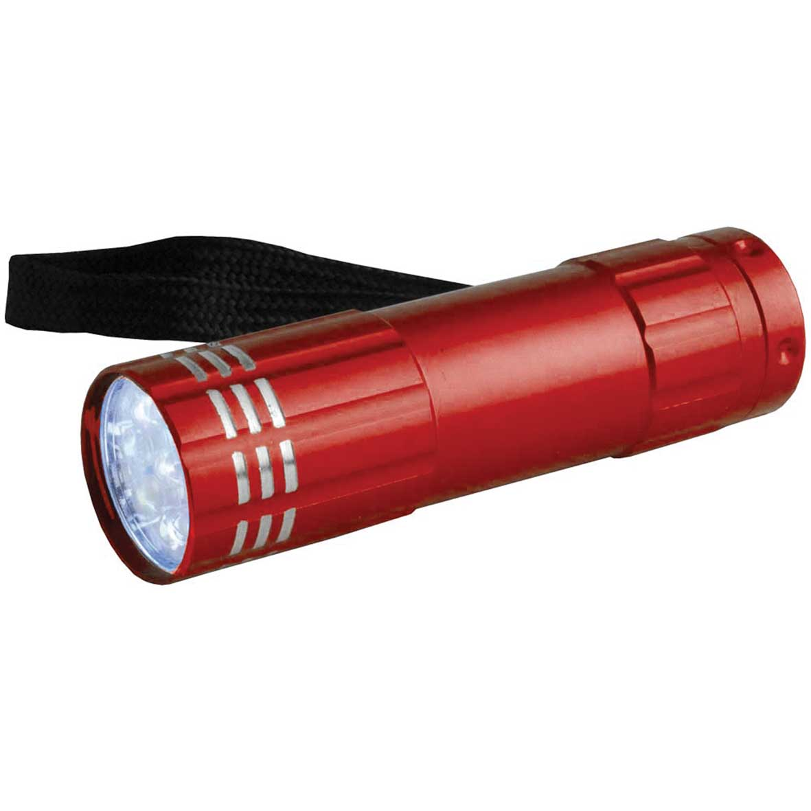 Aluminium torch with 9 LED lights - Red sip-0941203