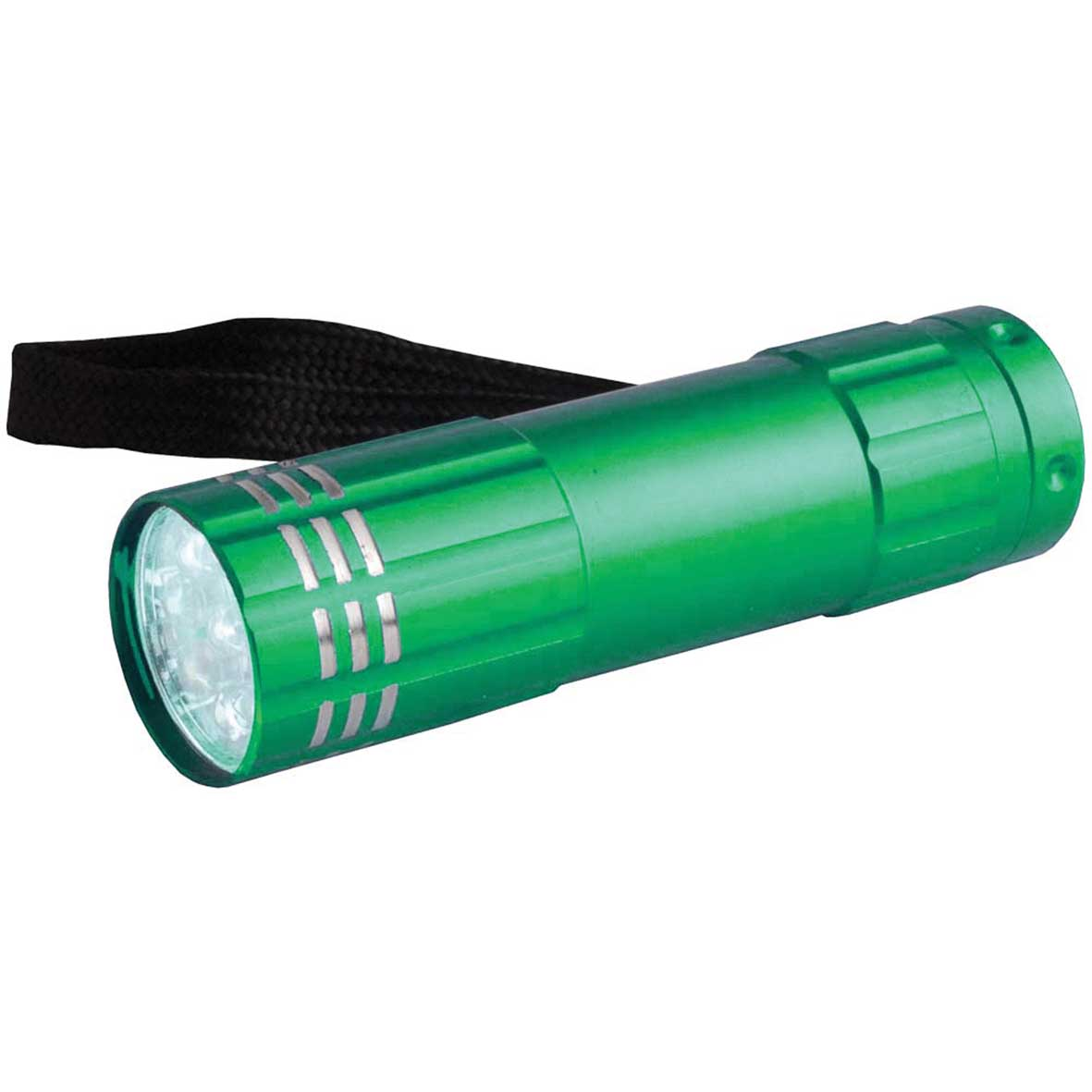 Aluminium torch with 9 LED lights - Green sip-0941204