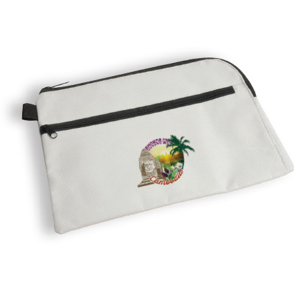 A4 polyester document case with zipper - White sip-1010708 subl