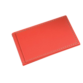 Synthetic leather credit card holder for 10 cards. - Red sip-1070103