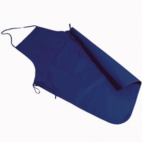 Cotton/polyester apron with pocket - blue sip-1147105
