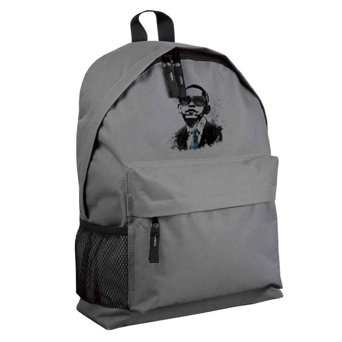 600d polyester backpack with zipped front pocket  - Light Grey sip-1310108 subl