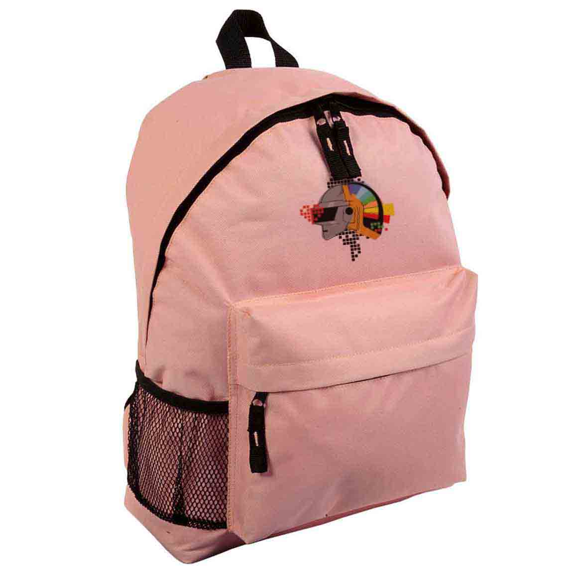 600d polyester backpack with zipped front pocket  - Pink sip-1310112 subl