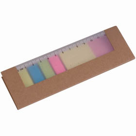 Card cover with a clear ruler, sticky pads and a selection of adhesive page memos. sip-13423