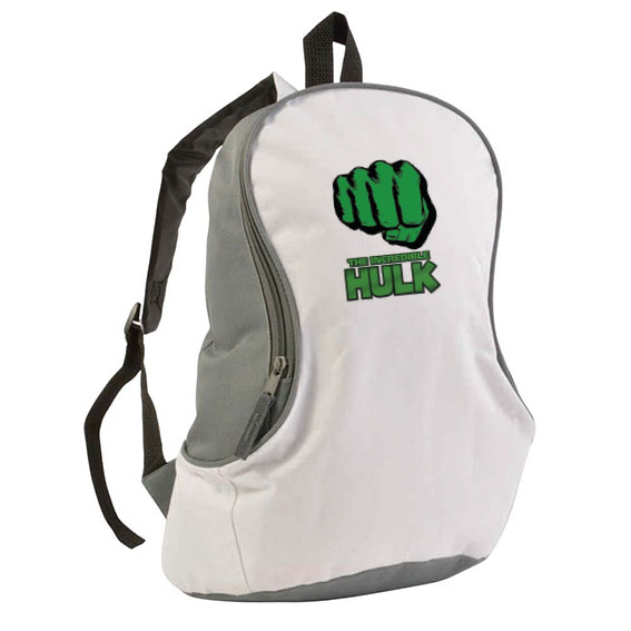 600d polyester bicolour backpack - White sip-1412001 subl