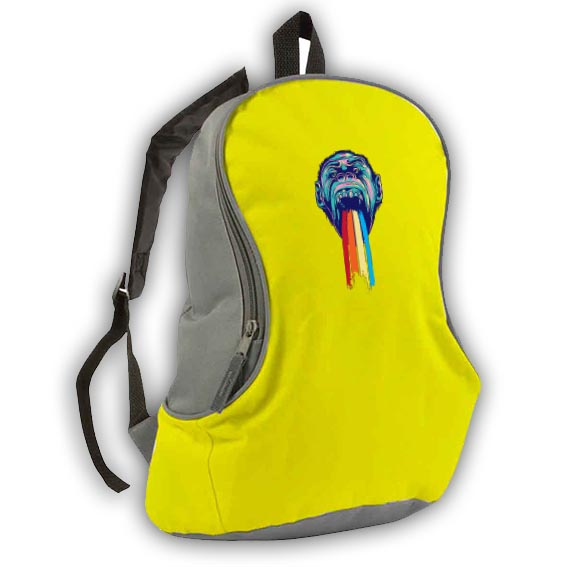 600d polyester bicolour backpack - Yellow sip-1412006 subl