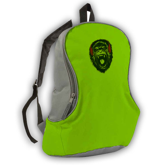 600d polyester bicolour backpack - Apple Green sip-1412044 subl
