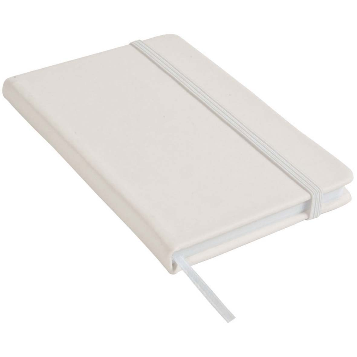 Note book with PU cover and elastic band for closing - White  sip-1441401