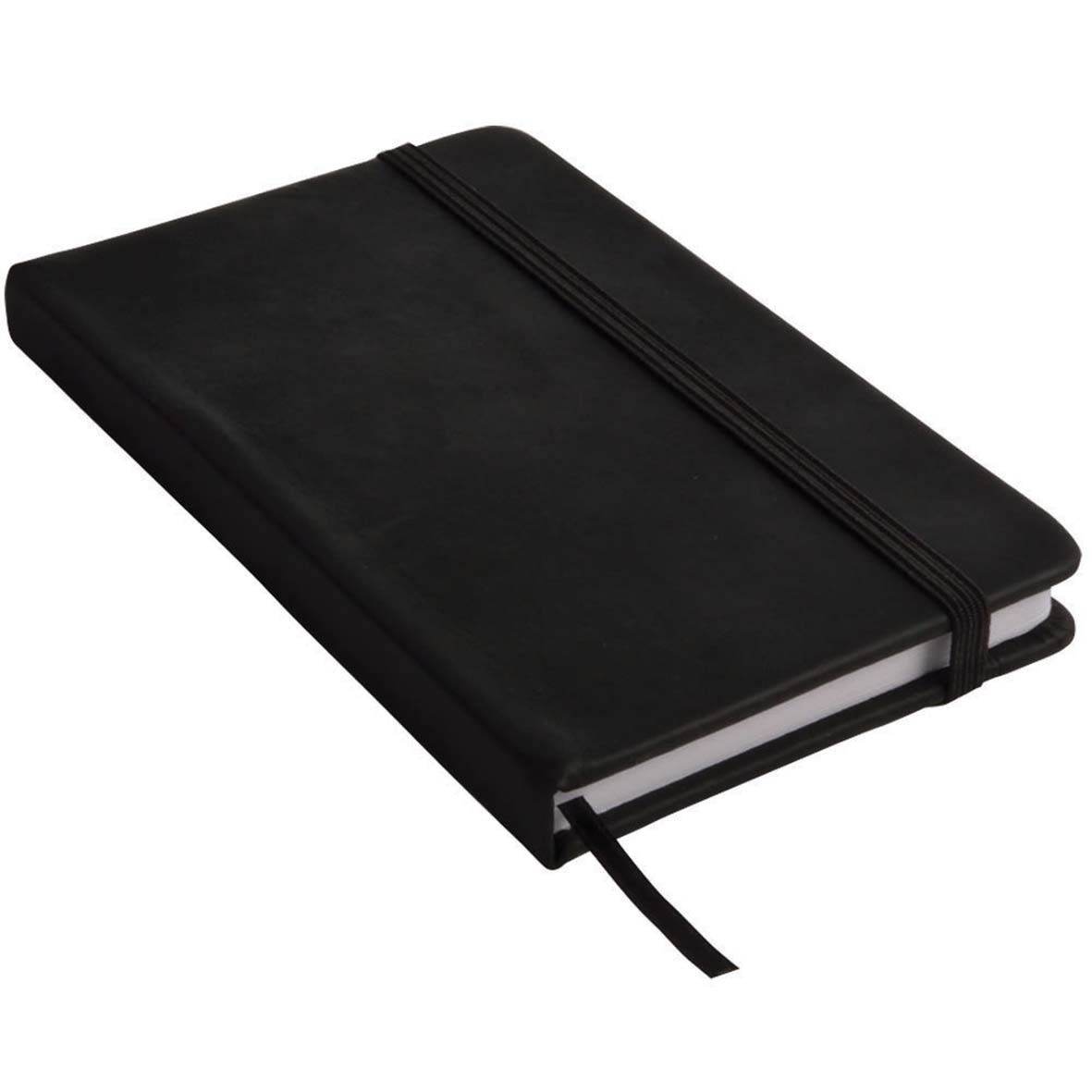 Note book with PU cover and elastic band for closing -  Black sip-1441402