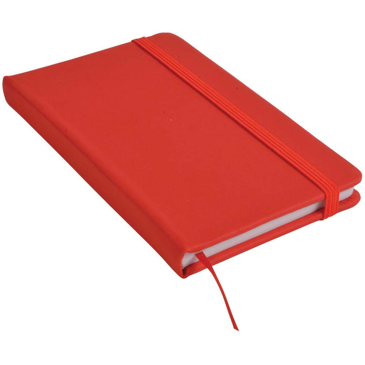 Note book with PU cover and elastic band for closing -  Red sip-1441403