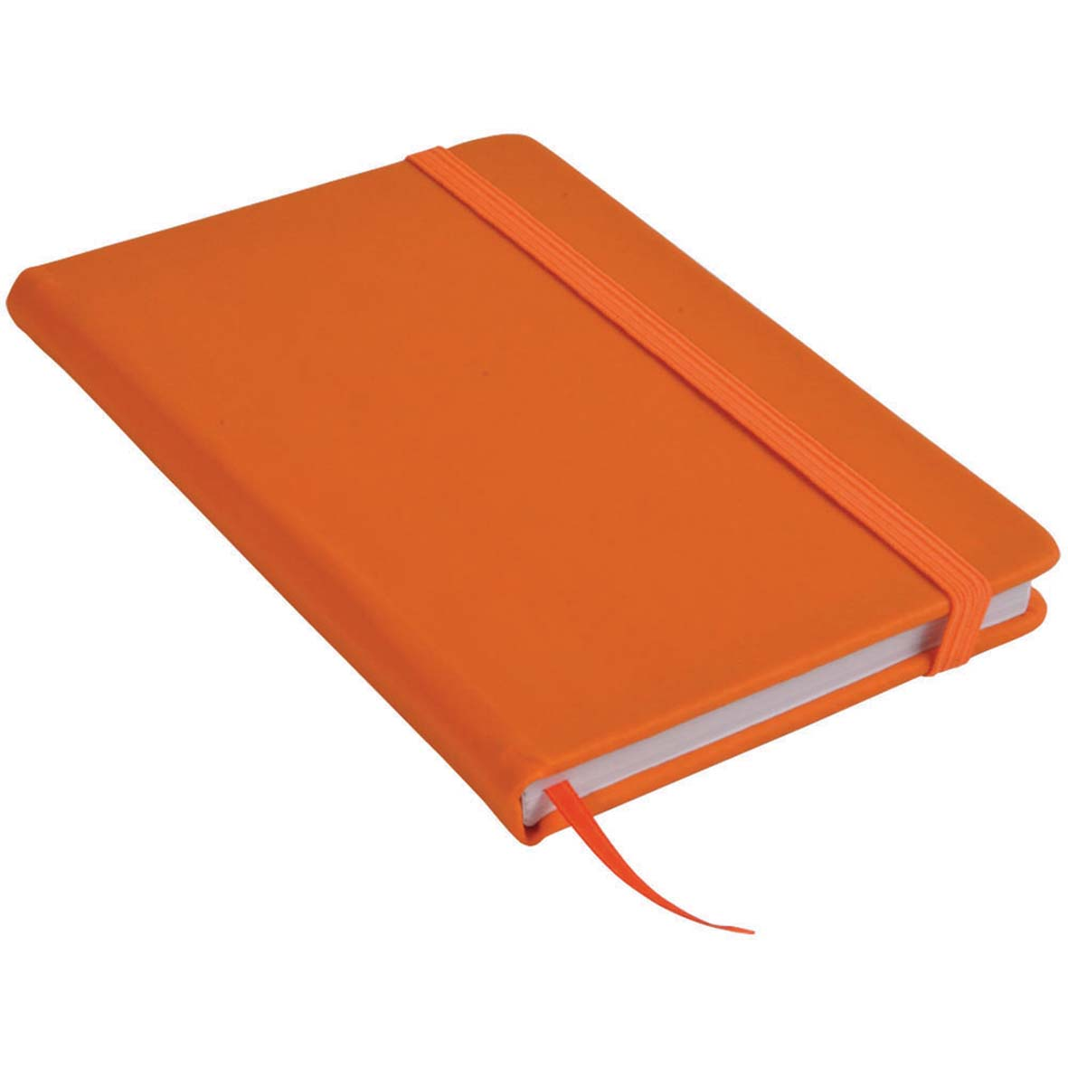 Note book with PU cover and elastic band for closing -  Orange sip-1441407