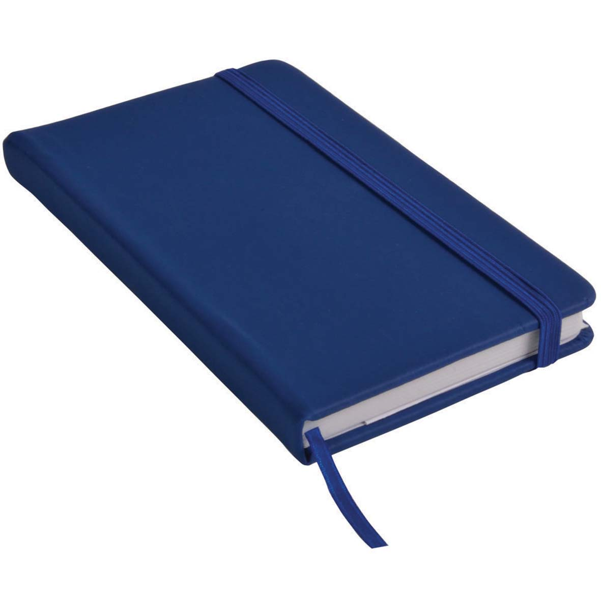Note book with PU cover and elastic band for closing -  Royal Blue sip-1441410