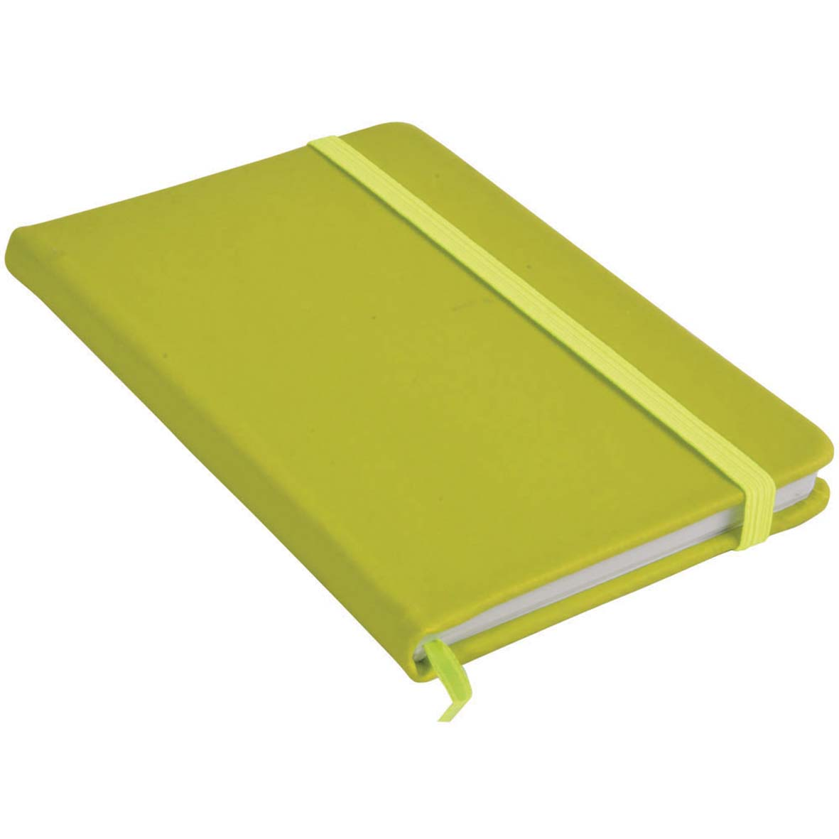 Note book with PU cover and elastic band for closing -  Apple Green sip-1441444