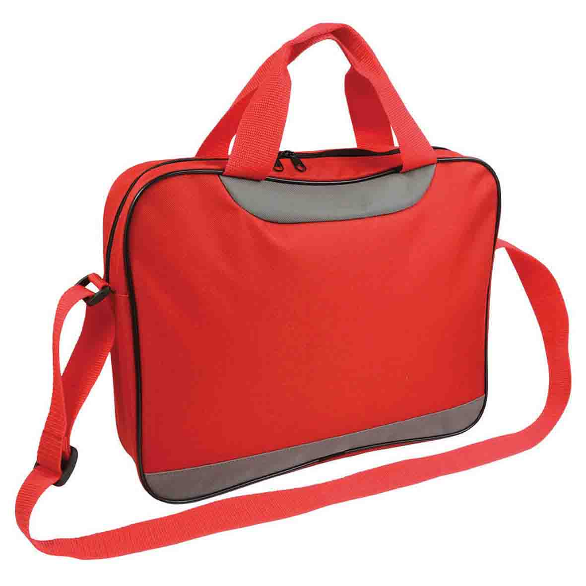 Document bag with zipper - Red sip-1514038