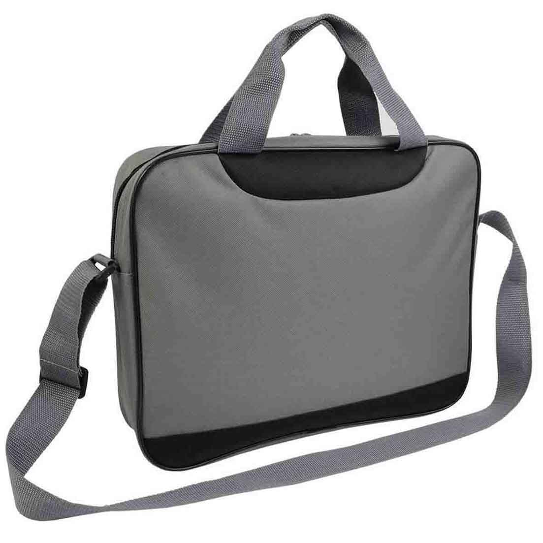 Document bag with zipper - Grey sip-1514082