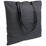 Cotton shopping bag with long handles. - Black sip-1514502