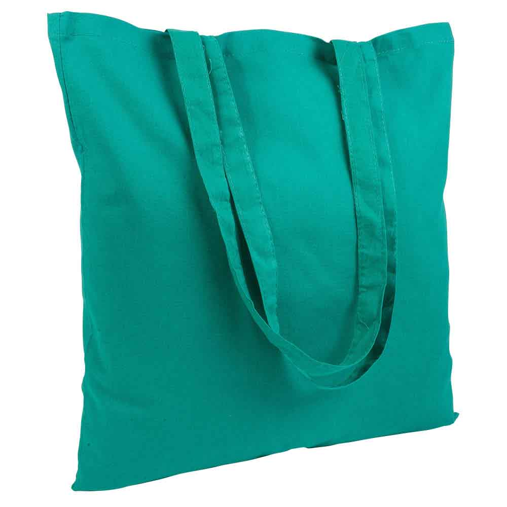 Cotton shopping bag with long handles. - Green sip-1514504