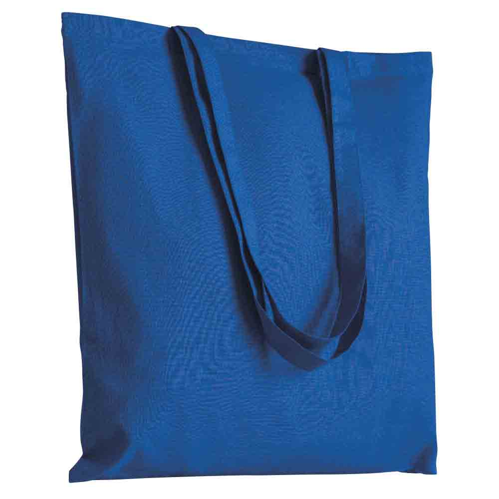 Cotton shopping bag with long handles. - Royal Blue sip-1514510