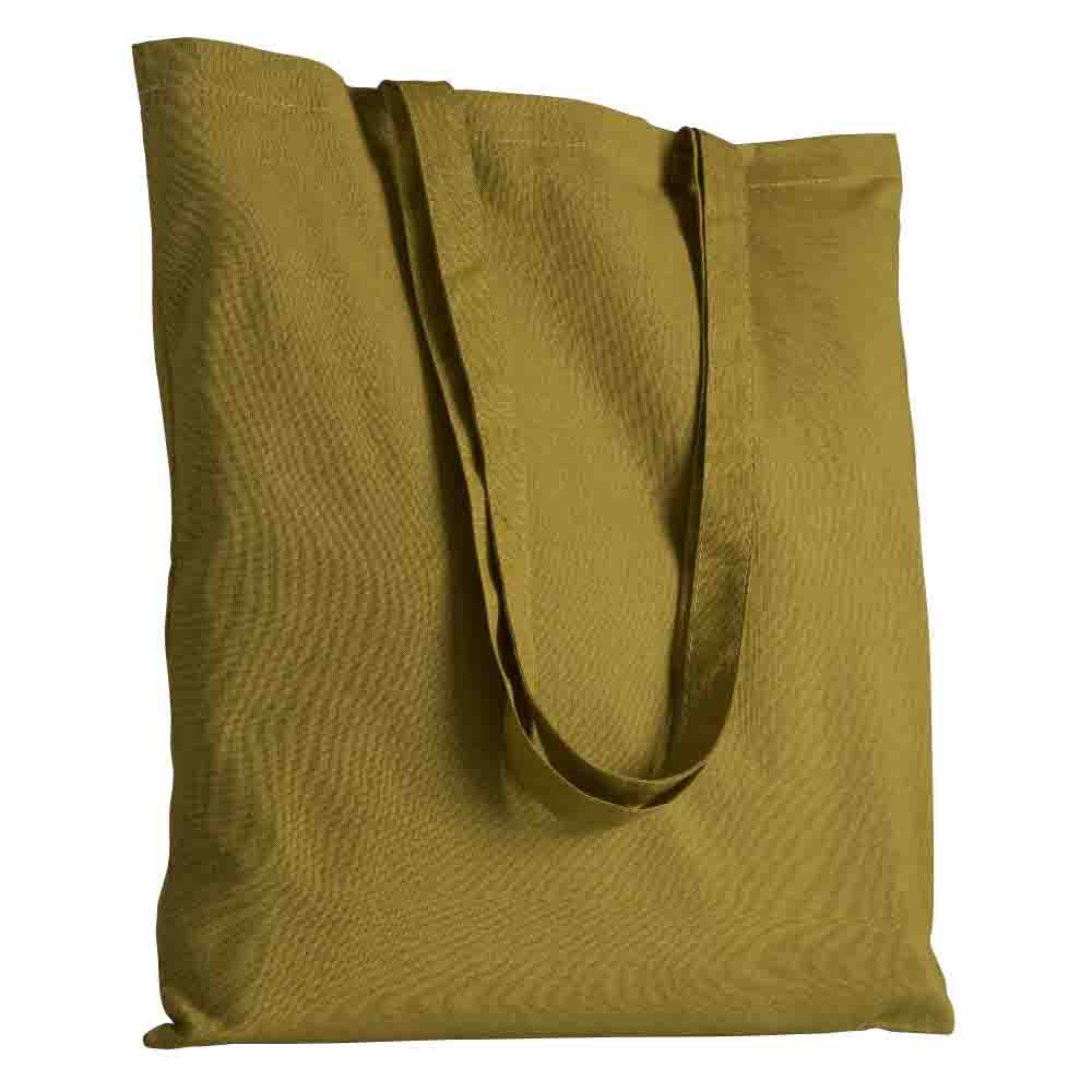 Cotton shopping bag with long handles. - Dark Green sip-1514564