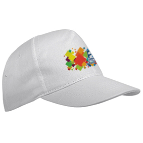 5 panel polyester cap - White sip-1630201 subl