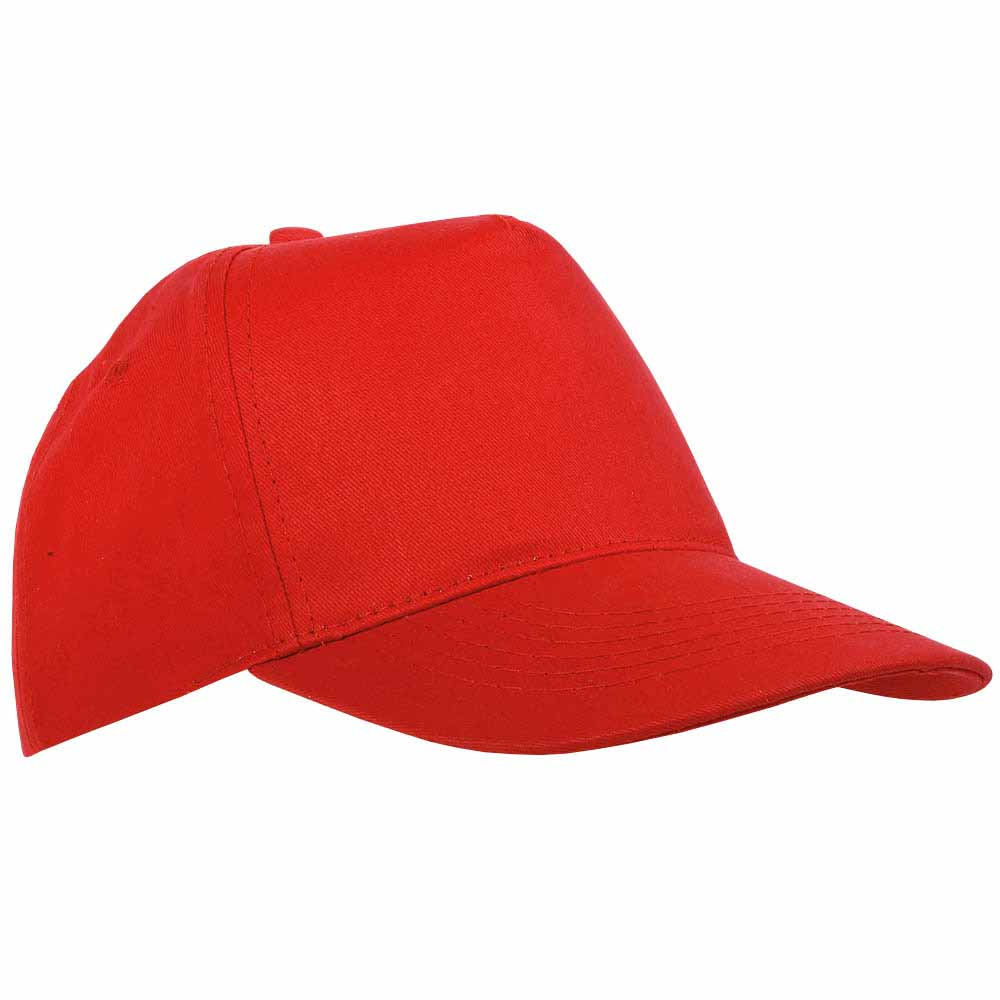 5 panel polyester cap - Red sip-1630203