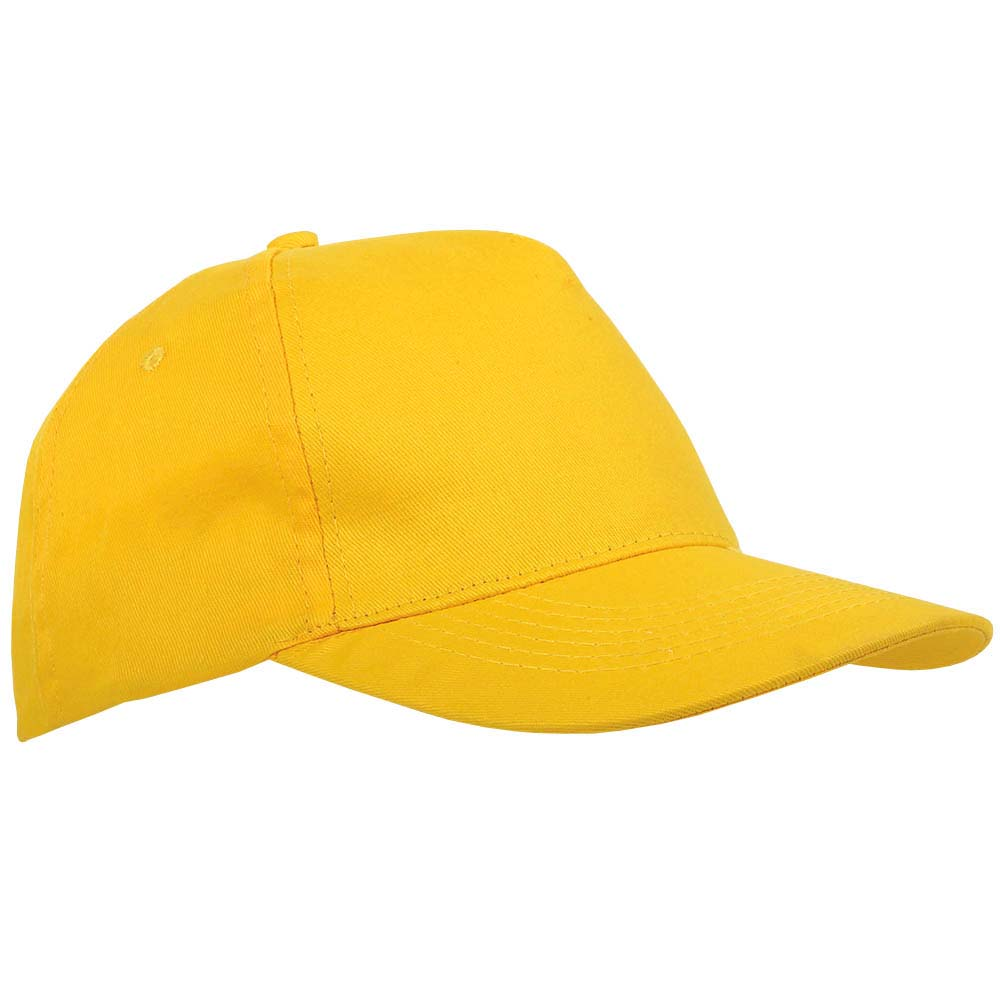 5 panel polyester cap - Yellow sip-1630206