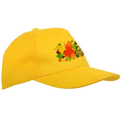5 panel polyester kids cap - Yellow sip-1630306 subl