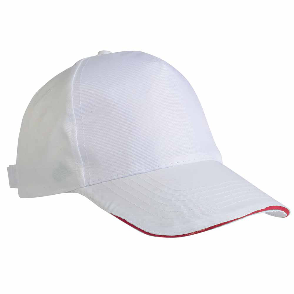 5 panel sandwich type cotton cap - Red sip-1630503 b