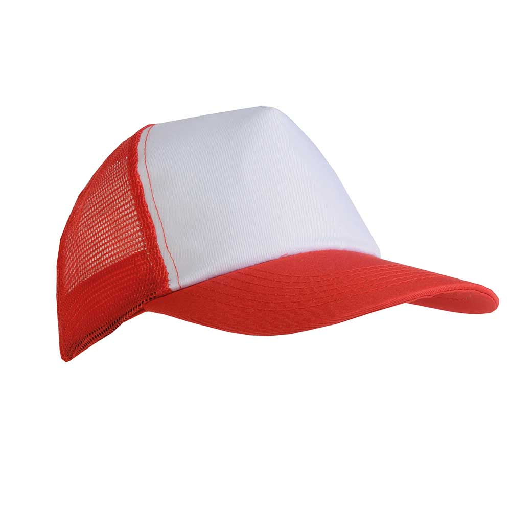 5 panel polyester cap -  Red sip-1730103