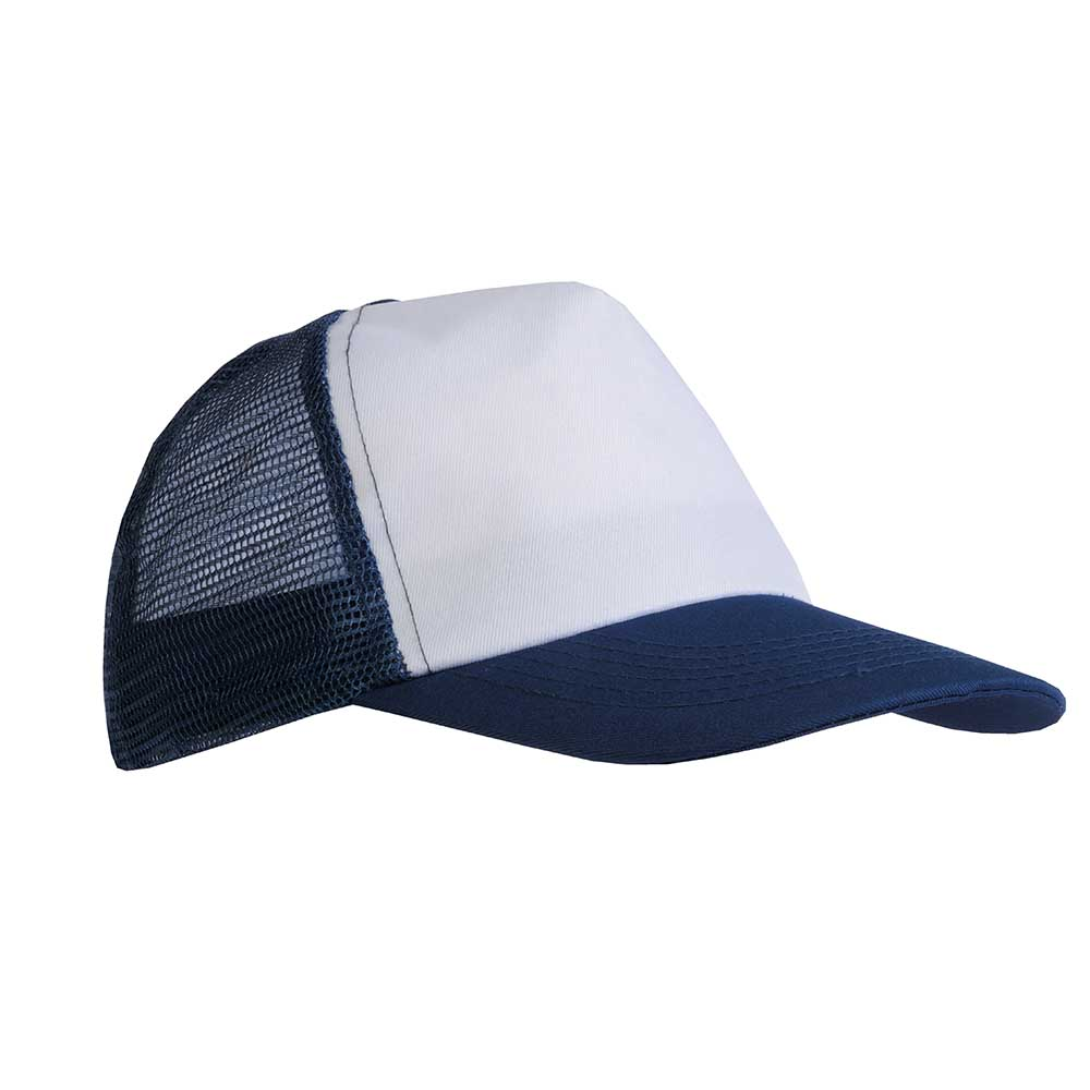 5 panel polyester cap -  Blue sip-1730105