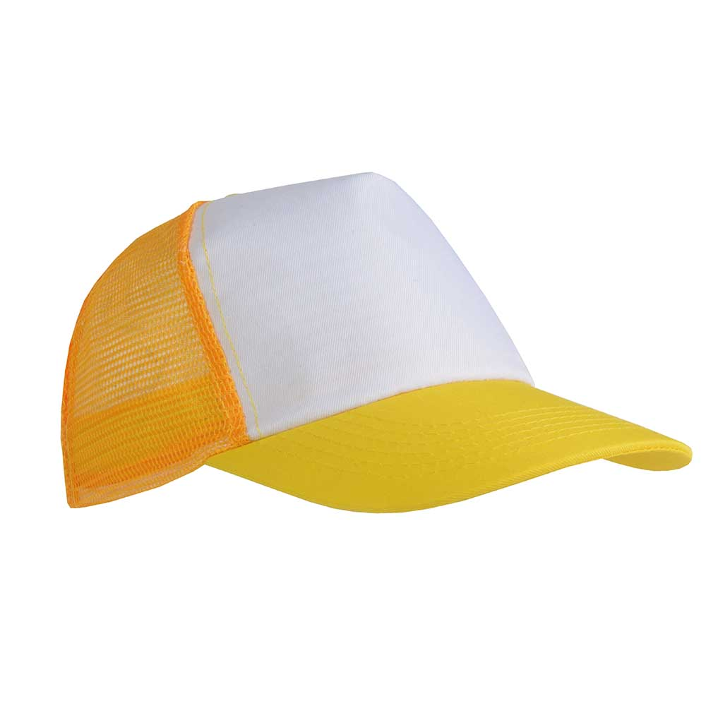 5 panel polyester cap -  Yellow sip-1730106
