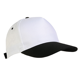 5 panel polyester cap -  Black sip-1730402