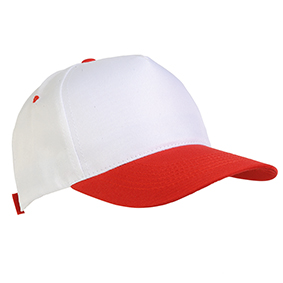 5 panel polyester cap -  Red sip-1730403