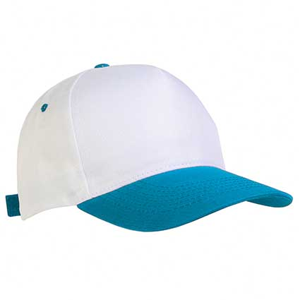5 panel polyester cap with velcro closure. -  Sky Blue sip-1730415