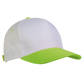 5 panel polyester cap -  Apple Green sip-1730444