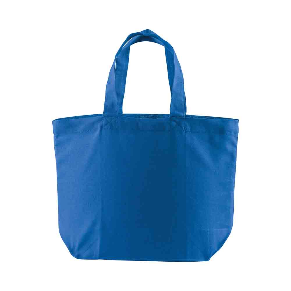 Cotton shopping bag (120 g/m²) with long handles and gusset. - Royal Blue sip-1810710