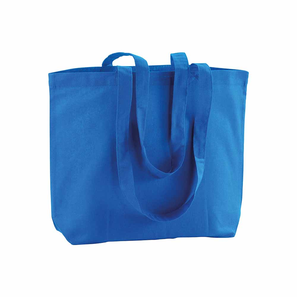 Cotton shopping bag (120 g/m²) with long handles and gusset. - Royal Blue sip-1810810