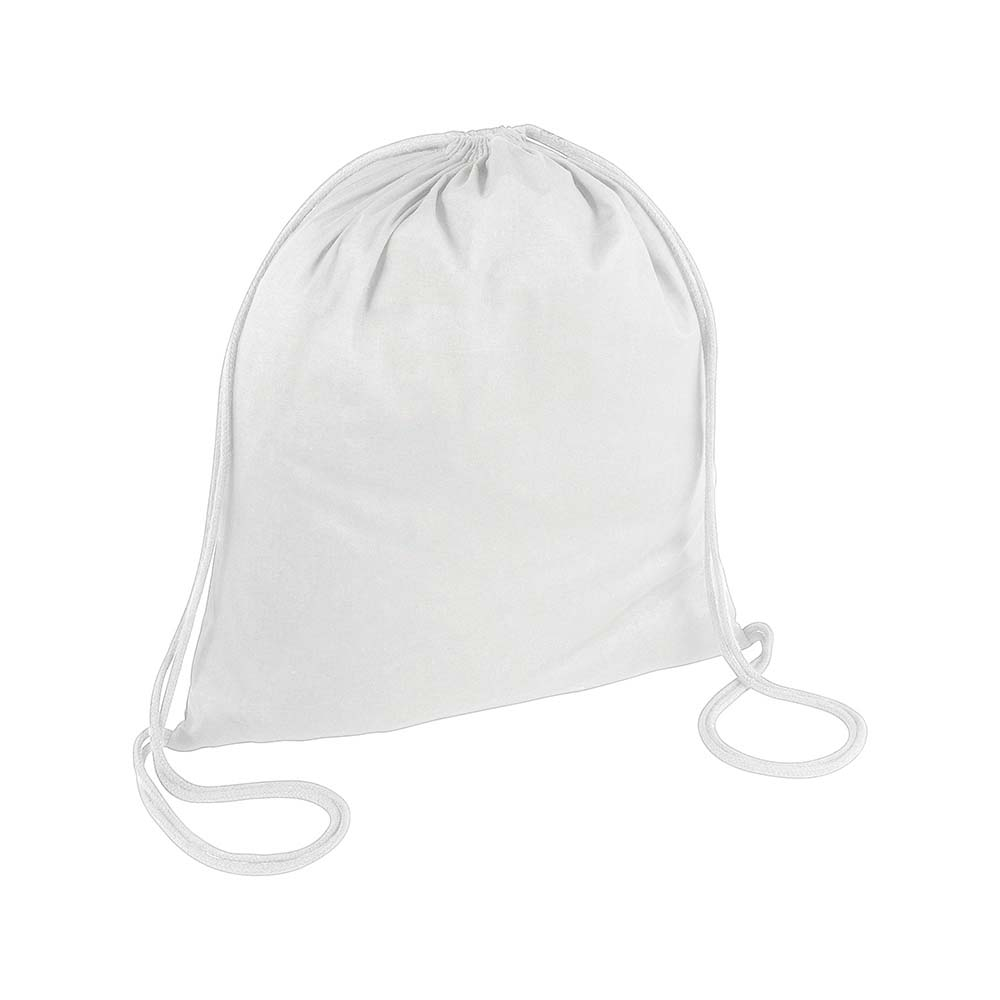 Cotton drawstring backpack with reinforced corners. - White sip-1815001