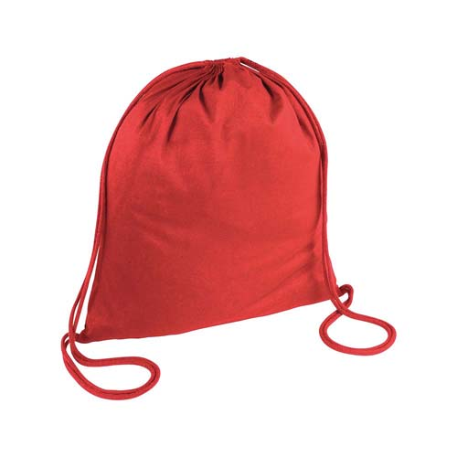 Cotton drawstring backpack with reinforced corners. - Red sip-1815003