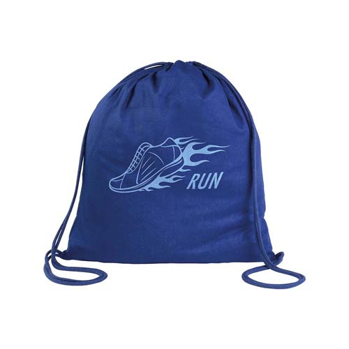 Cotton drawstring backpack - Royal blue sip-1815010