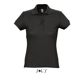 SOL'S PASSION POLO TYPE T-SHIRT - BLACK sl-108 bk