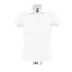 SOL'S PASSION POLO TYPE T-SHIRT - WHITE sl-108 w