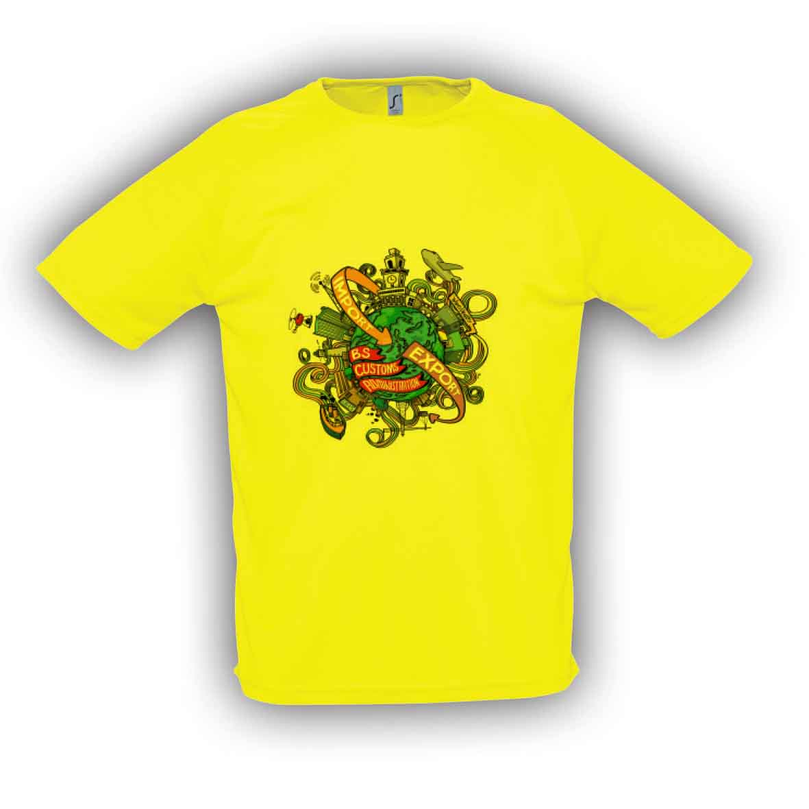 Sol's sporty t-shirt - Yellow sl-130 y subl