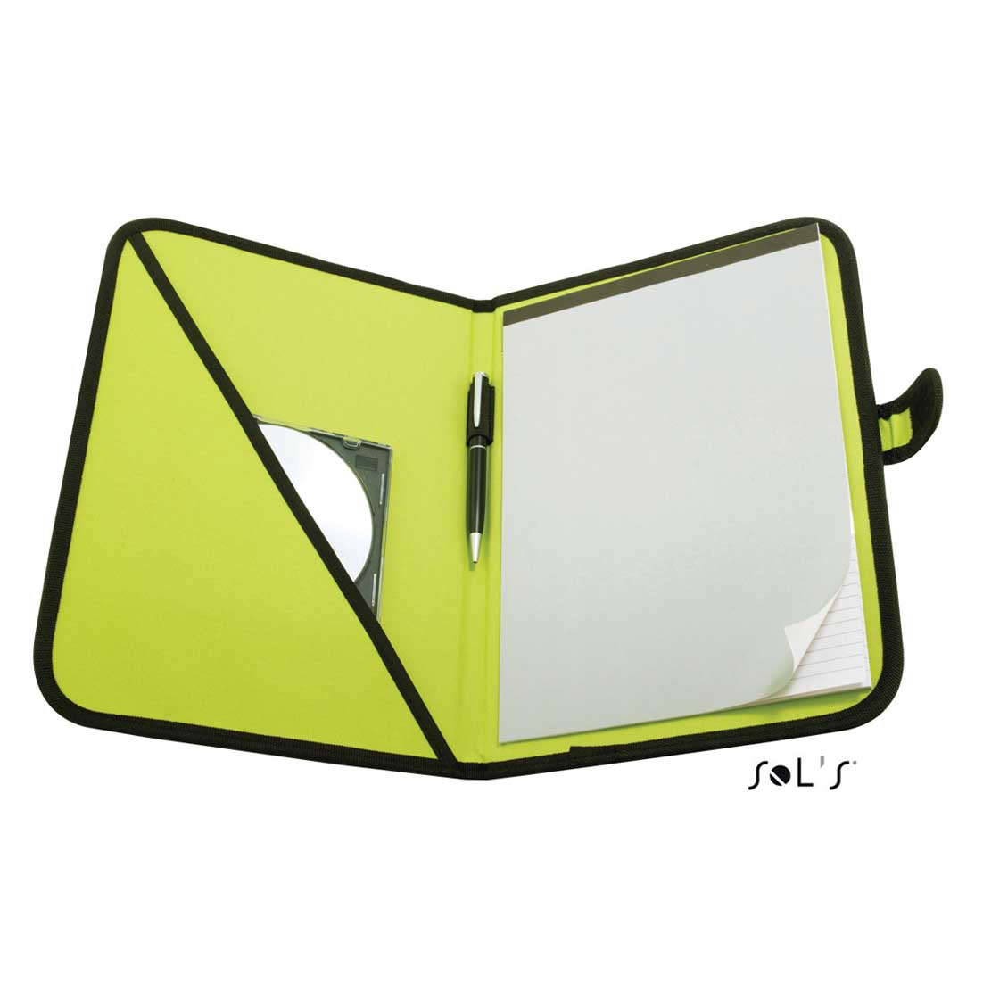 A4 conference folder with notepad - apple green sol-73300 apg