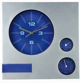 Square wall clock - sweep movement - blue wc-705 bl